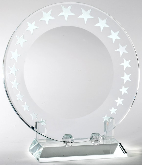CRY608 Crystal Plate with Stars