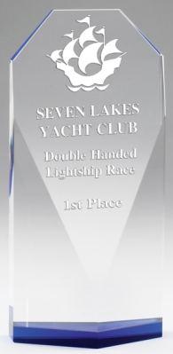 CRY541 Crystal Diamond Face Trophy