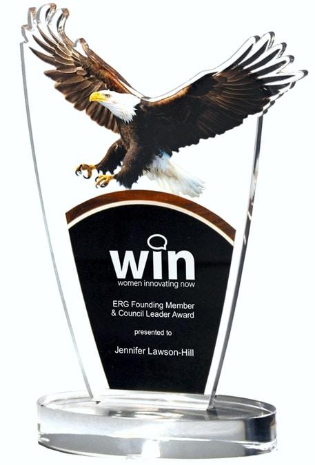 DT824A Landing Eagle Acrylic Award