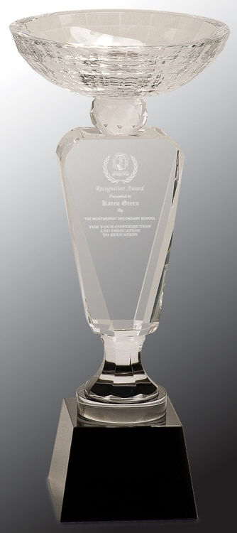 CRY6302L Crystal Trophy Cup