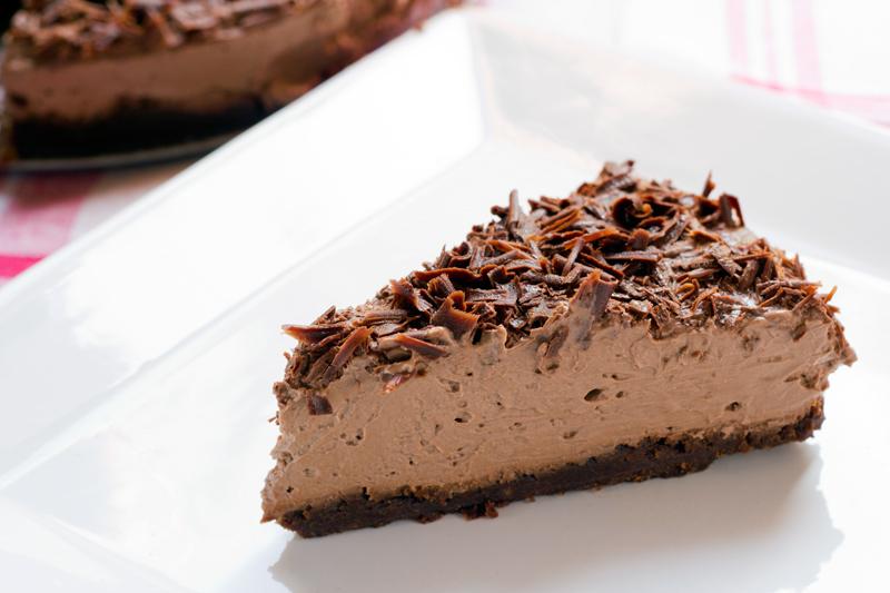 Pastís de mousse de xocolata