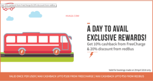 redbus freecharge wallet offer
