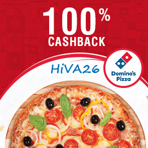crownit dominos voucher 100 cashback offer hiva26