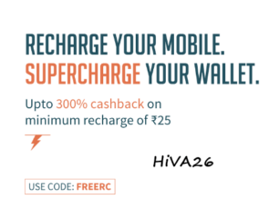 freecharge 300 cashback new user