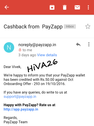 cashback proof of payzapp hiva26