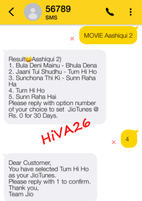 steps to activate caller tune in jio hiva26