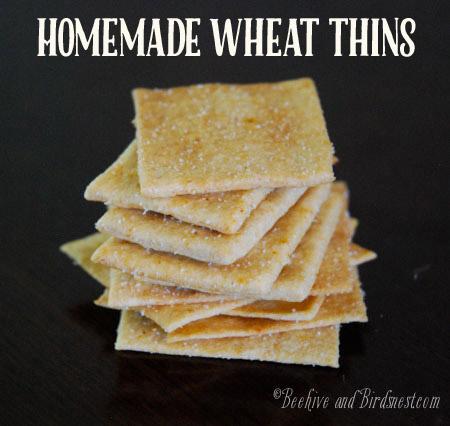 Homemade Wheat Thins