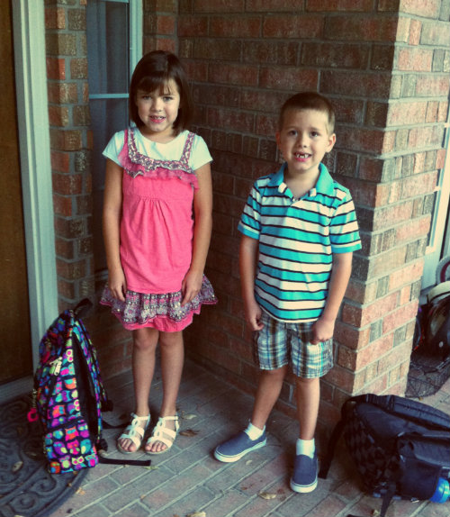Babies first day of school