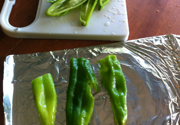 peppers on sheet