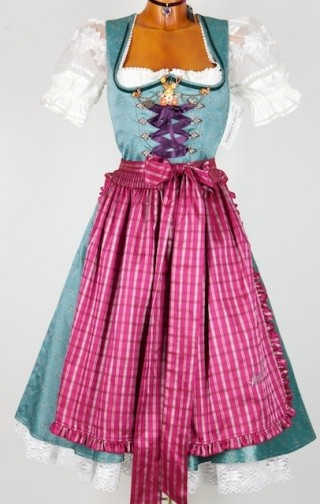blue and pink dirndl