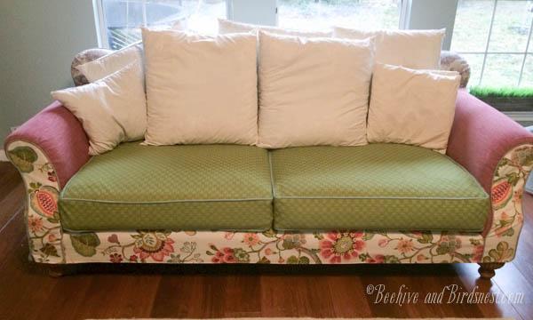 Sofa unfinished cushions