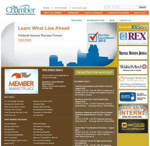 Raleigh, NC Chamber of Commerce screenshot