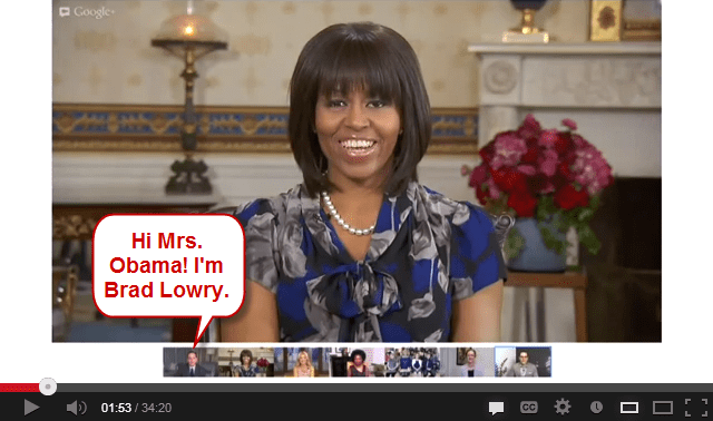 Michelle Obama Google+ Hangout