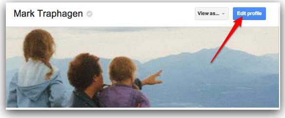 Google Plus edit profile button