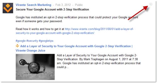 Editing a Google+ Post