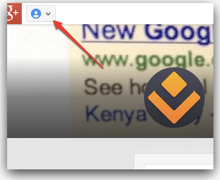 Google Plus page menu