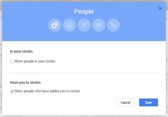 Google Plus page people display