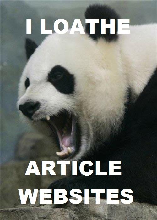 Pandas Hate Article Marketing Sites