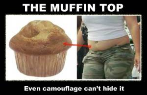 giant muffin top fat chick