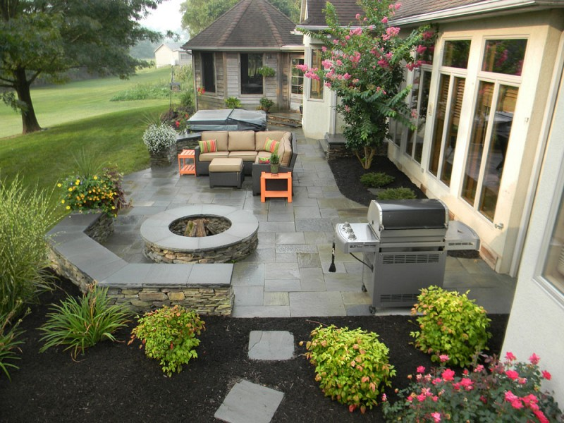 Patio Paver VS Stamped Concrete, Which is Best? | Hively ... on Square Concrete Patio Ideas  id=26974