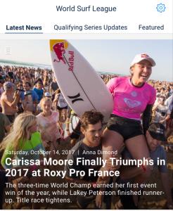 WSL Quick Pro Roxy Pro Hossegor WSL Report