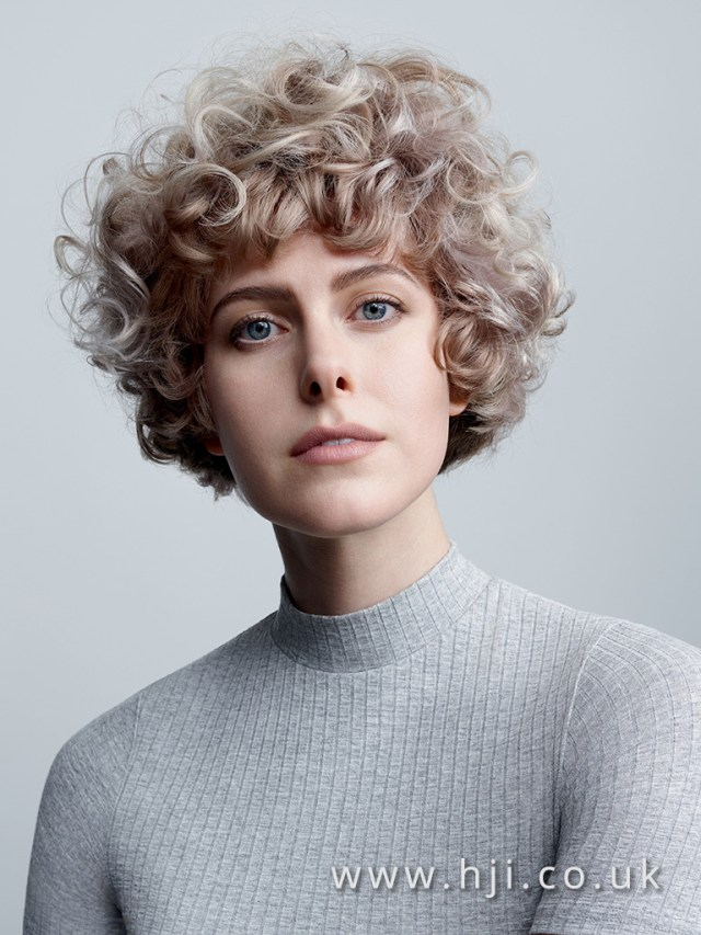 2017 short curly ash blonde and chocolate hairstyles