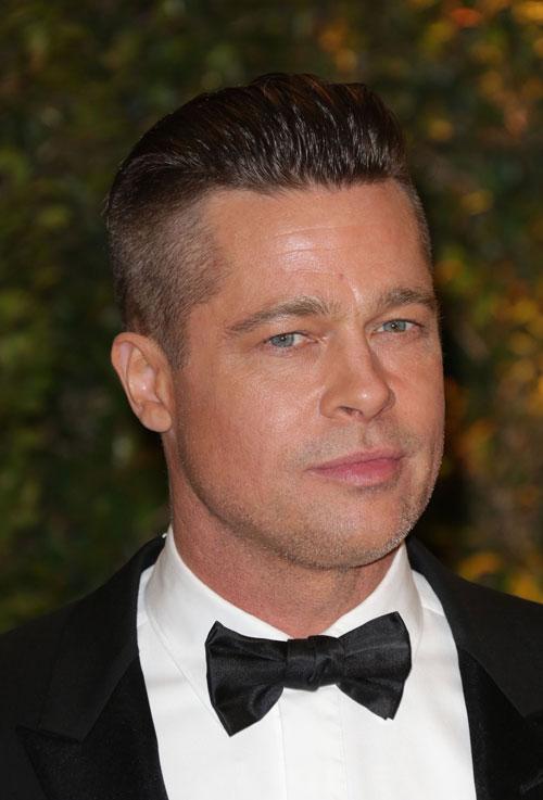 Brad Pitt Debuts Military Man Shaved Style HJI