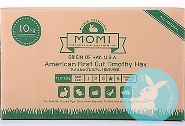Momi 摩米 1st cut 提摩西(穗牧)草 Timothy 1st cut 10kg (4 x 2.5kg 袋連盒裝)