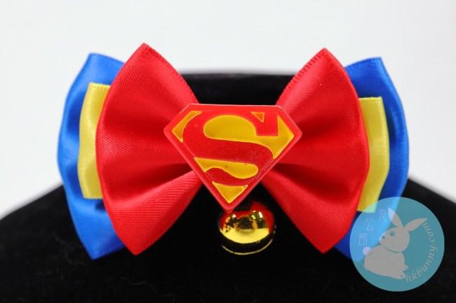 兔兔天竺鼠龍貓用擬超人標誌頸飾