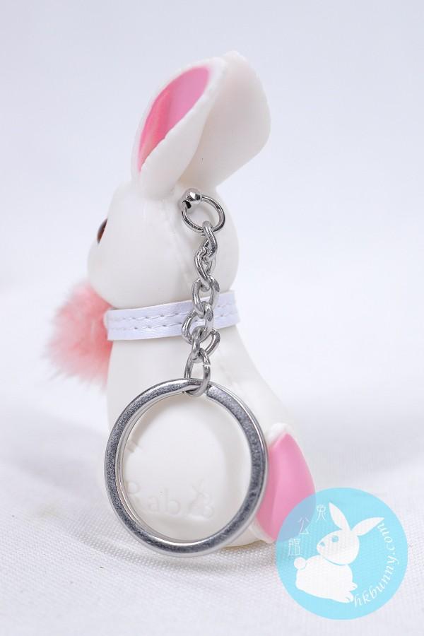 白色小兔鎖匙扣