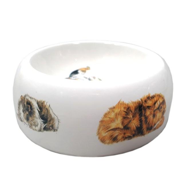 天竺鼠圖案食物碗糧兜(小)