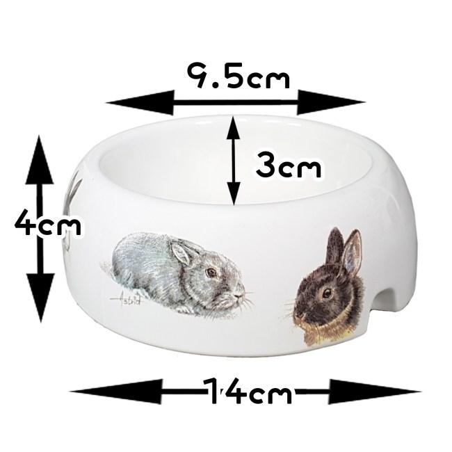 小兔圖案食物碗糧兜(小)