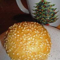 Bánh cam / frittierte Klebreiskuchen mit süßer Bohnenfüllung