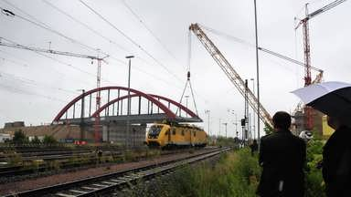 Zeitraffervideo Brückenverschiebung B6n bei Köthen