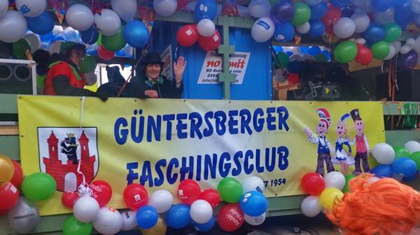 Günterberger Faschingsclub auf dem Rosenmontagsumzug 2018