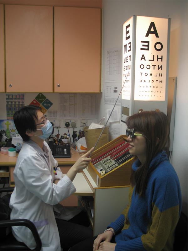 爲視障人士進行視力檢查