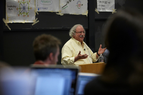 Photo of HKS Senior Lecturer Marshal Ganz teaching a class