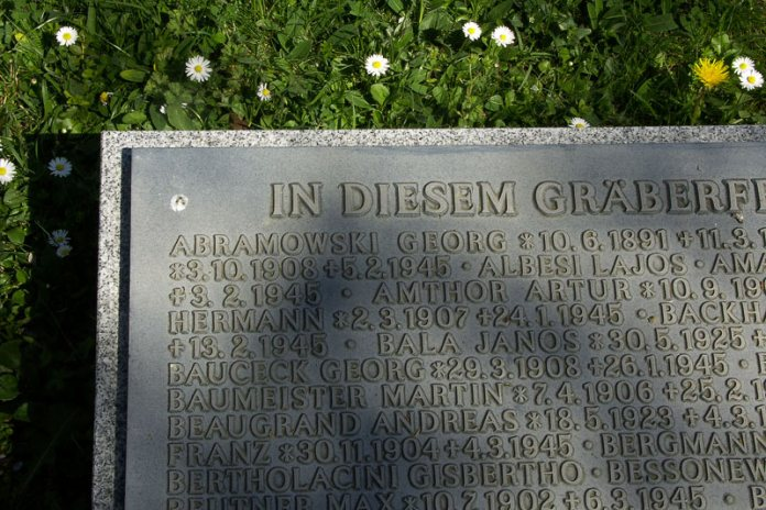 spomen ploca Njemacko groblje u Zagrebu