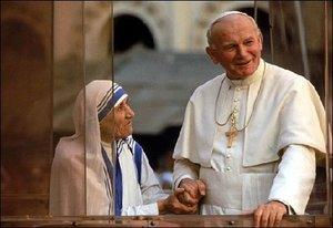 Majka Terezija i Ivan Pavao II
