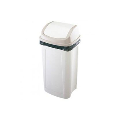 papelera tapa basculante 50 litros blanca