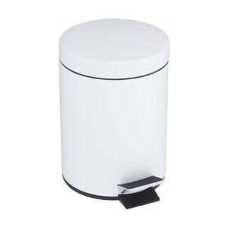 papelera con pedal blanca 5 litros