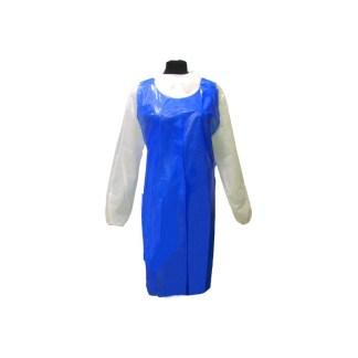 delantal polietileno azul g.80