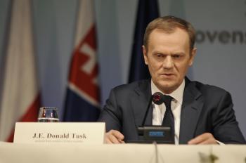 Na snímke poľský premiér Donald Tusk