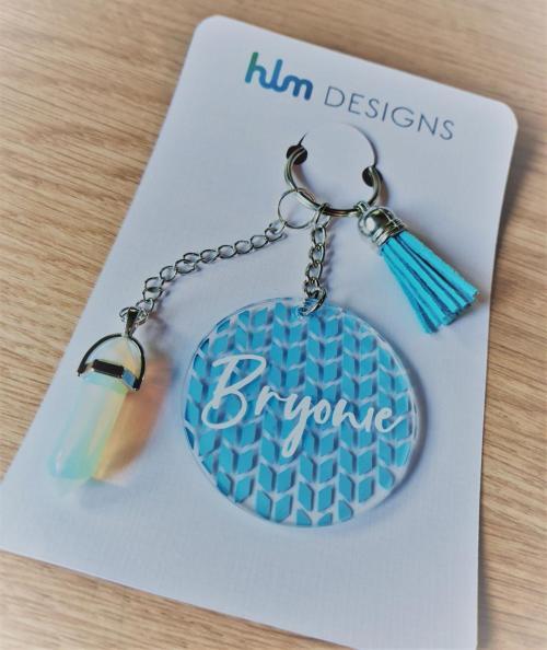 Custom Keychain blue