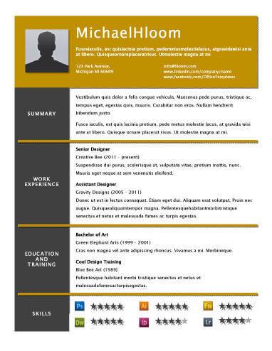 Amazing Resume Templates Resume Sample