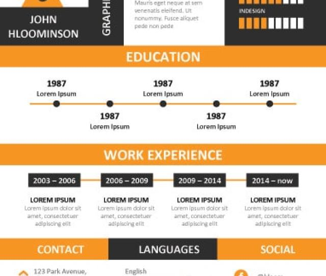 Practical Bold Infographic Resume