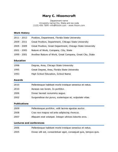 simple resume templates 75 examples free - Easy To Use Resume Templates