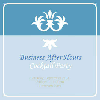 Business After Hours Tail Party Invitation