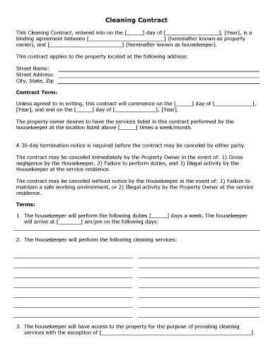Party Contract Two Agreement