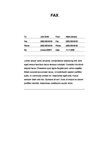 Basic Urgent Fax Cover Sheet Numbered Lines